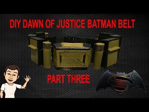 DIY Dawn of justice Batman utility belt Part THREE