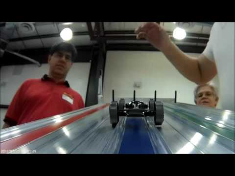 Pinewood Derby Car Rail Rider Wheel Movement First Attempt
