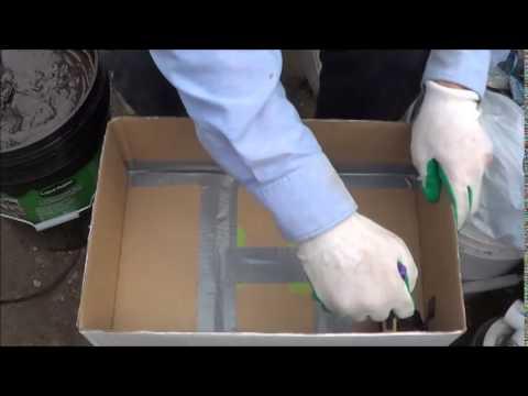 Liquid Rubber Test #2 - Making a Waterproof Cardboard Box