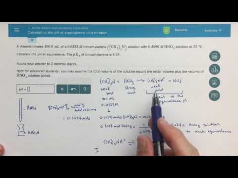 ALEKS - Calculating the pH at Equivalence of a Titration