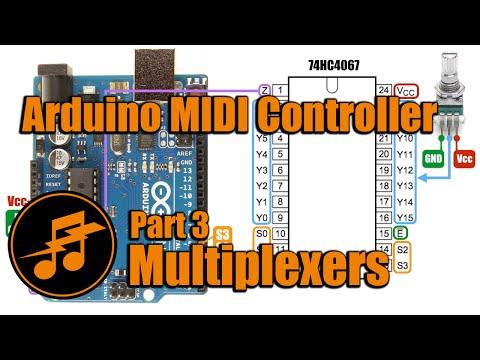Arduino MIDI Controller: Part 3 - Multiplexers