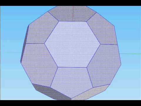 Time-lapse soccer ball build in Google Sketchup