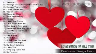 Hot Top 100 Romantic Love songs Playlist   Best Valentine Day Songs