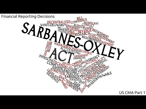 Sarbanes Oxly Act | Cost Managment| US CMA Part 1| US CMA course