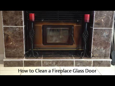 How to Clean a Fireplace Glass Door