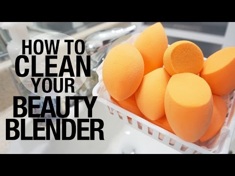 How to Clean Beauty Blenders | xmaaaikee