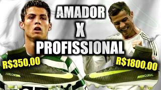 MERCURIAL CR7: PROFISSIONAL vs AMADOR - BATALHA DE CHUTEIRAS