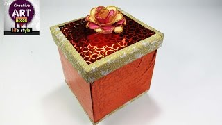 how to make a gift box | best out of waste | Christmas gift | At with Creativity