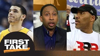 Stephen A. Smith goes off on Lonzo Ball for LaVar Ball