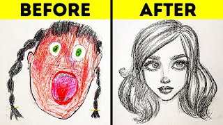 25 EASY DRAWING TRICKS FOR BEGINNERS || SIMPLE DRAWING AND PAINTING TUTORIALS AND TIPS