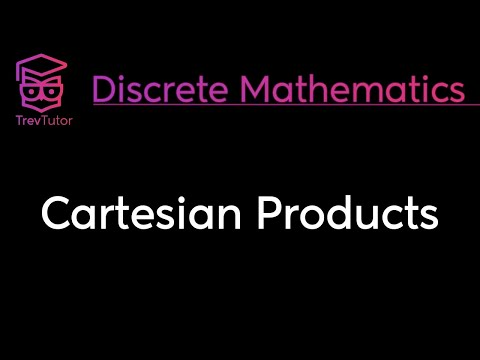 [Discrete Math 1] Cartesian Products and Ordered Pairs