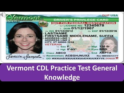 Virginia CDL Practice Test General Knowledge