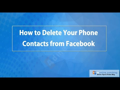 How to remove your imported contacts from facebook