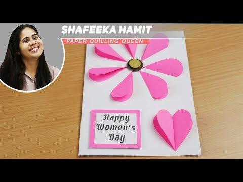 Easy lovely handmade cards for Women's Day mothers day - DIY