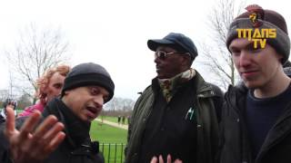 Mansur vs Atheist | Did The Universe Merely Pop In To Existence? | Speakers Corner