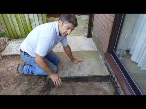 Removing The Old Patio