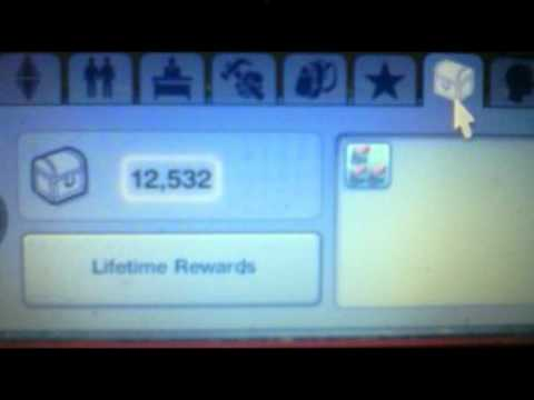 Sims 3 Cheat for Lifetime Reward Points