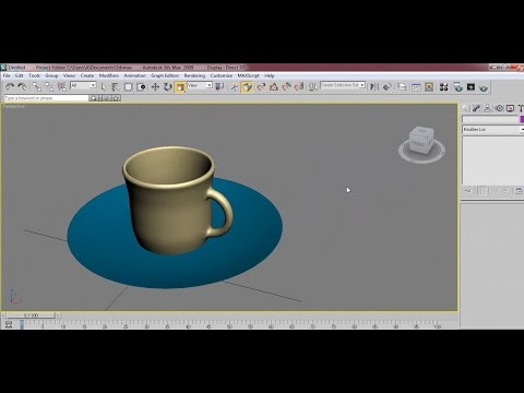 3d max tutorial cup with plate design
