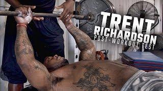Trent Richardson dominates post-workout bench press test