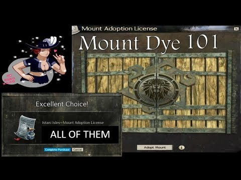 Istani Isle Mount Dye 101 - not just a preview - let's check the dye channels