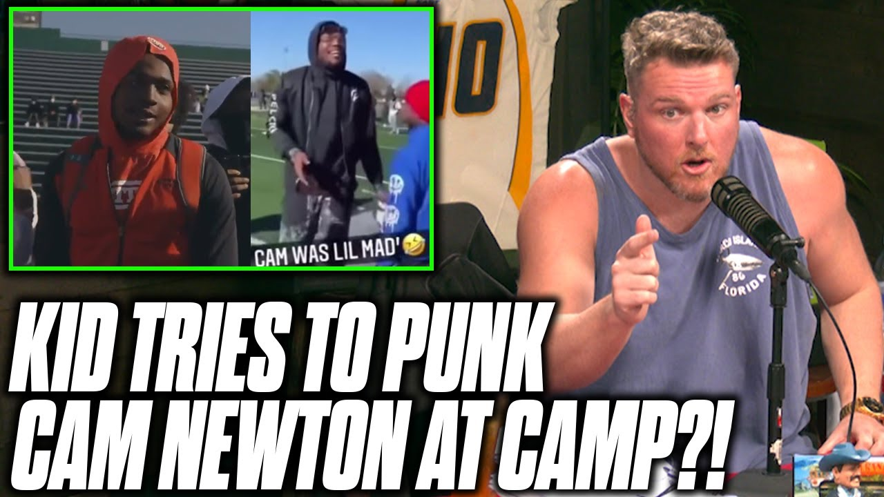 Pat McAfee Reacts To Cam Newton Getting Heckled At His Own Football Camp