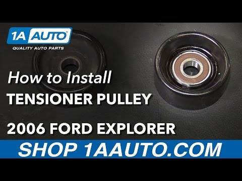 How to Install Replace Serpentine Belt Tensioner Pulley V8 4.6L 2006-09 Ford Explorer