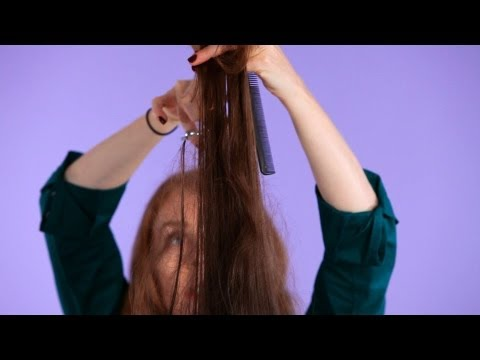 How to Texturize Hair Using Scissors   Hair Cutting