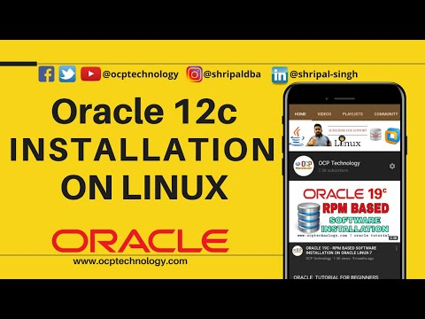 Oracle Database 12c Tutorial #1 - How to install oracle 12c on Linux