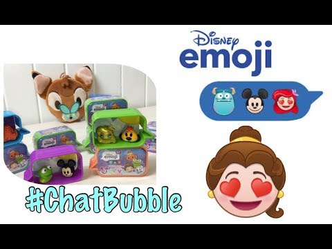 NEW DISNEY EMOJI #ChatBubble Blind Boxes – Opening 10 Disney Emoji Surprise Figures LEARN COLOURS