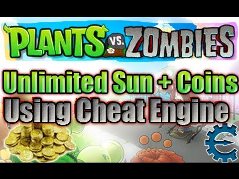 Plants vs. Zombies - EASIEST WAY to get Unlimited Sun and Coins using Cheat Engine