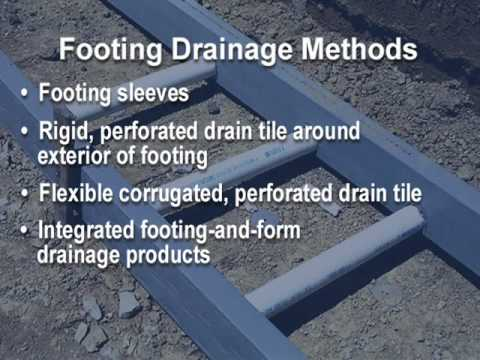 Building Science Video: Foundation Water Management
