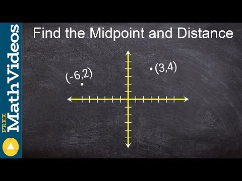 Algebra 2 - What is the midpoint formula and how do you find the midpoint between