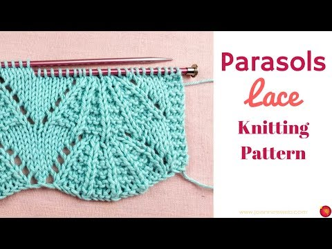 Parasols Lace Knitting pattern- Umbrella Arch Knit Pattern - Lace Knitting