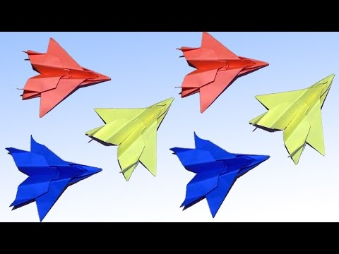 Easy Paper Plane Origami Jet Fighter -  How to make an F15 Eagle Jet Fighter Paper Plane