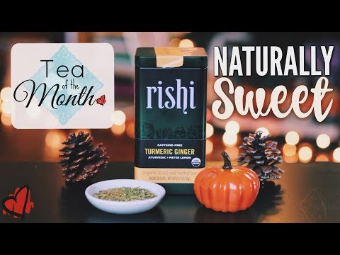 Naturally Sweet Tea?! Ginger Tumeric from Rishi - Teatime with Mary!