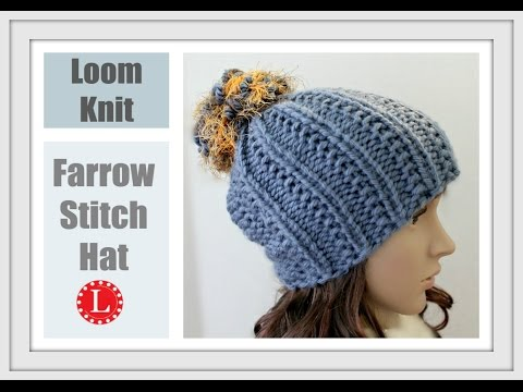 How to Loom Knit a Hat with out a Brim (Farrow Stitch Beanie) Round Loom
