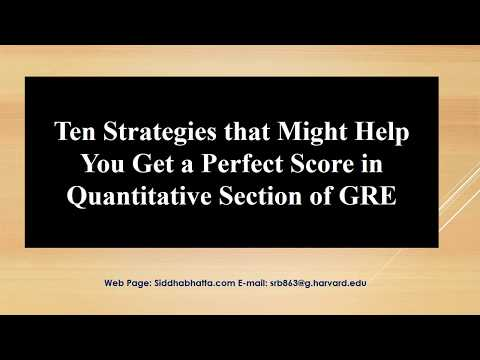 Ten Strategies to Get 170/170 on GRE Quantitative Reasoning
