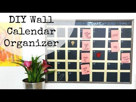 DIY Wall Calendar Organizer
