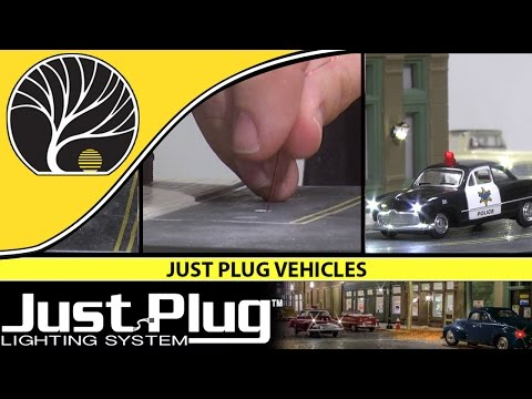 Just Plug Vehicles - N, HO and O Scales | Just Plug® Lighting System | Woodland Scenics