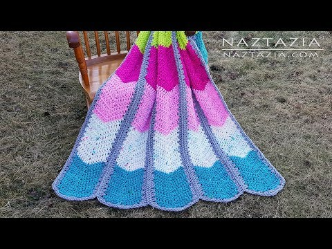 Learn How to Crochet Waterfall Ripple Blanket - Chevron Afghan with Super Bulky Weight Yarn