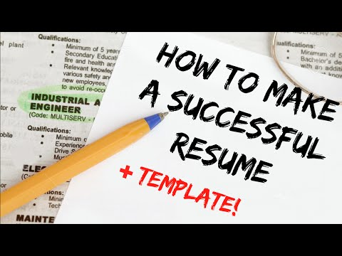 HOW TO WRITE A GOOD RESUME // Free Template