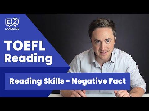 TOEFL Reading Skill 7: Negative Fact with Jay!