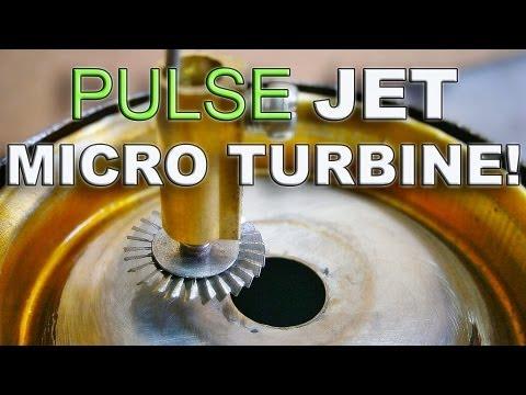 Tin Can Pulse Jet Powers a Tiny Turbine Wheel !