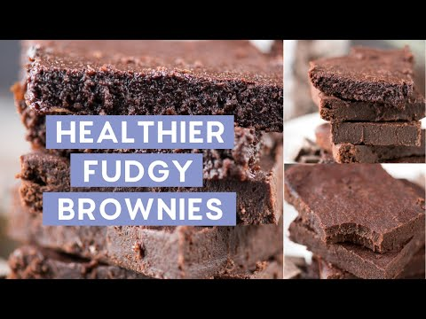 Healthier Fudgy Brownies