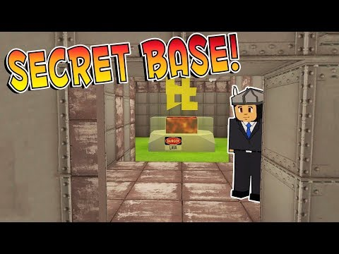 Voxel Turf Game - BUILDING A SECRET BASE & A PEACE TREATY! - Voxel Turf Multiplayer Gameplay