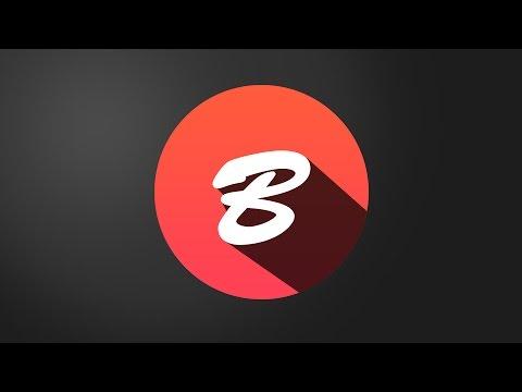 How to Create logo Flat Shadow in Photoshop CS6 | Alphabet B Logo Design Tutorial