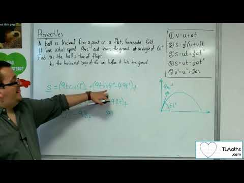 A-Level Maths 2017 Q5-05 Projectiles: From the Ground Example 2 Integration Method