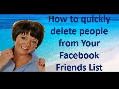 How to quickly delete people from Your Facebook Friends List