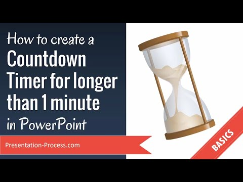 How to create a Countdown Timer for longer than 1 minute in PowerPoint