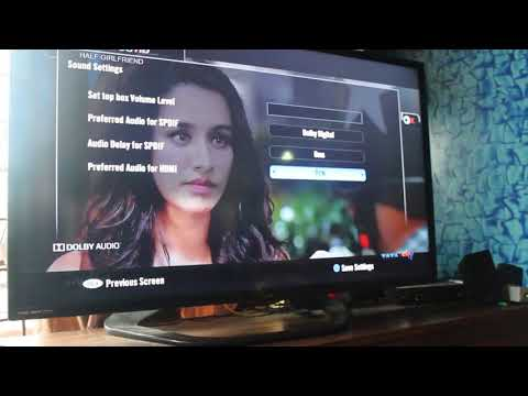 Tata Sky HD channel  low volume solution in hindi
